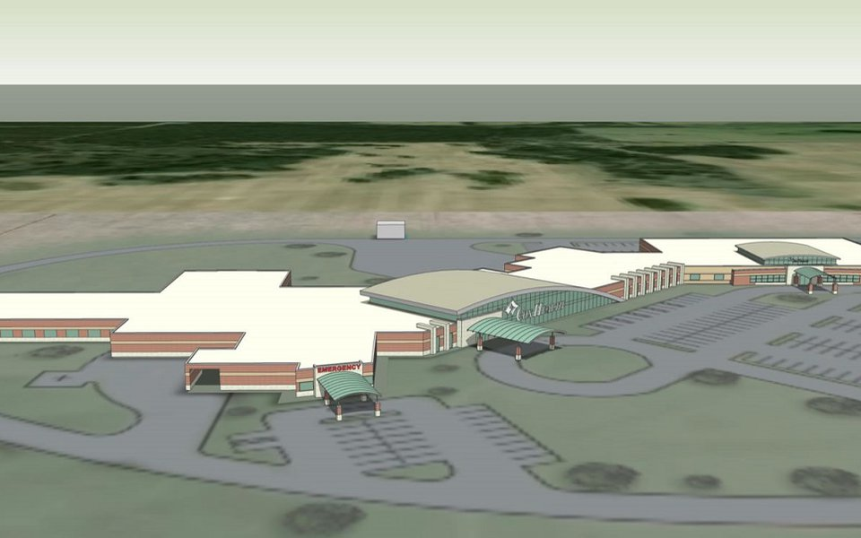 The first rendering of the new Cox Monett Hospital