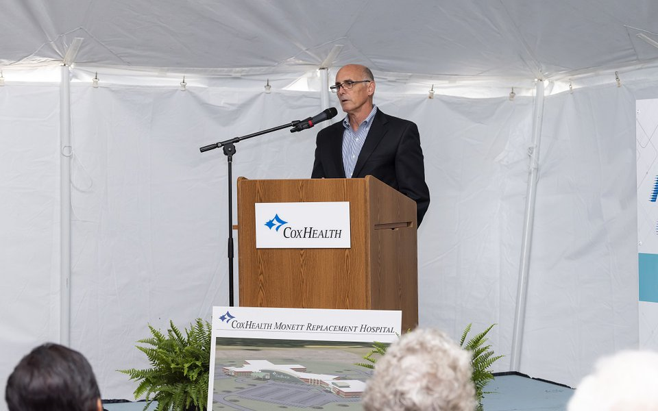 Jack Prim speaks at the groundbreaking ceremony
