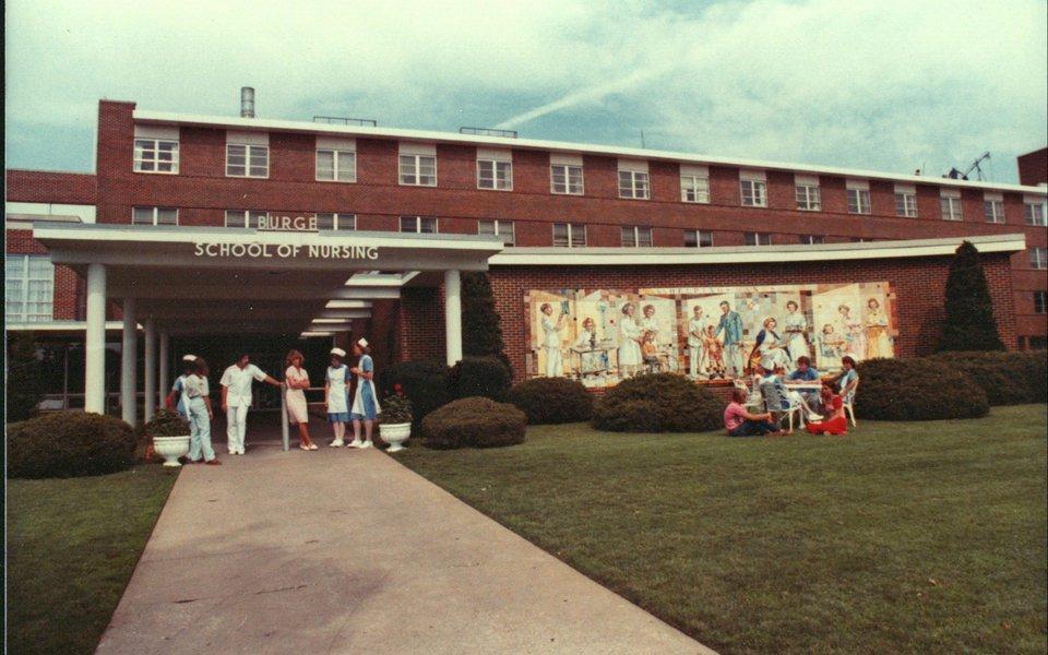 A historic photo of Cox College